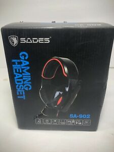 Sades SA902 7.1 Channel Virtual USB Surround Stereo Wired PC Gaming Headset Over