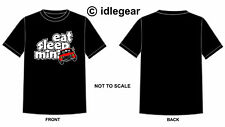 "Classic Mini Cooper 1275gt T Shirt "" Eat Sleep Mini""  red mini"