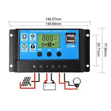 NEU Dual USB 12-24V 30A PWM Solar Laderegler Ladegerät LCD Solar Controller