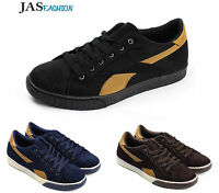 Mens Lace Up Casual Trainers Sport Italian Designer Fashion Gym Shoes UK Size