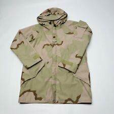 US Army ECWCS Military Desert Camo Camouflage Hood Parka Coat Jacket Medium Long