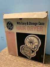 Vintage GE Portable Hair Dryer HD-11 Complete Original Box Instructions