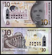SCOTLAND Bank of Scotland NUOVO 10 LB (ca. 4.54 kg) (P) 2016 (2017) Polymer UNC