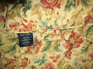 Ralph Lauren Highgate Woods TWIN Comforter antique Tapestry floral tan multi