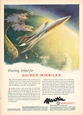 1951 Martin Aircraft Guided Missiles - Original Advertisement Print Ad J250