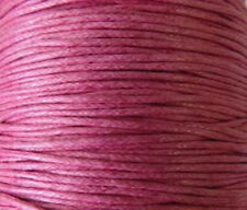 1mm Genuine Pink Natural Cotton Wax Cord -25 Yards Jewelry Supplies