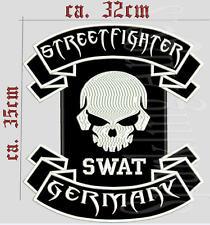 STREETFIGHTER GERMANY SWAT  Rückenpatch Aufnäher  35x32 cm