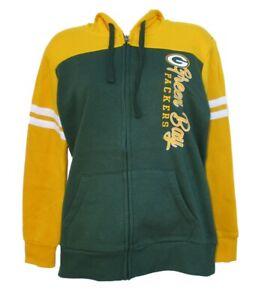 Green Bay Packers Women's Full Zip Hooded Sweatshirt Touch Stadium Alyssa Milano