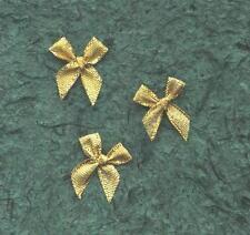 50 GOLD Sparkle RIBBON BOWS TRB1G  Wedding Stationery Party Birthday Scrapbooks
