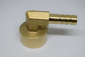 8mm Hose Tail Connector X 1/2 BSP Female Elbow in Brass for Fuel Air Water