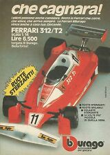 X9209 Ferrari 312/T2 BBURAGO - Pubblicità 1977 - Advertising