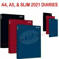 A4 / A5 / A6 2021 Diary Week To View or Day A Page Desk Diary Hard Cover Dairy