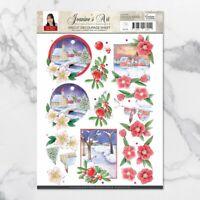 Amy Design 3D Diecut Decoupage Set A4 Sheet - Christmas Wishes Landscapes 2