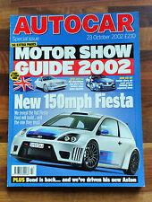 Autocar 23 Oct 2002: Porsche Boxster, James Bond's Aston Vanquish & Aston DB6