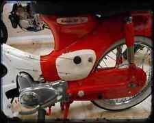 Honda C50 Cub 66 02 A4 Metal Sign Motorbike Vintage Aged