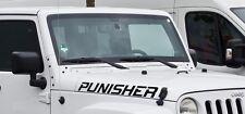 2x light Decal sticker for Jeep Wrangler Punisher xenon ultimate sahara v8 mopar