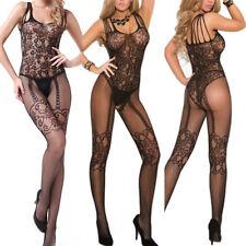 Sexy-Women Lace Lingerie Nightwear Underwear G-string Babydoll Body Stocking US