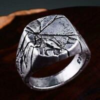 Retro Men's Stainless Steel Silver Gothic Punk Charm Ring Sale Finger Biker D0L9