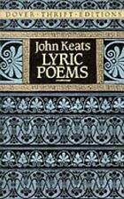 John Keats : Lyric Poems : Dover Thrift Ed. Paperback : Brand New ~Free Shipping