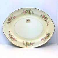"Homer Laughlin Eggshell Nautilus 15-3/4"" Serving PLATTER"