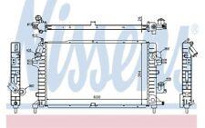 NISSENS Radiador, refrigeración del motor OPEL ASTRA ZAFIRA VAUXHALL 63029A