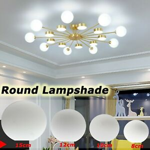 Glass Matte White Globe Lamp Shade Replacement Round Light Parts Cover Fixture