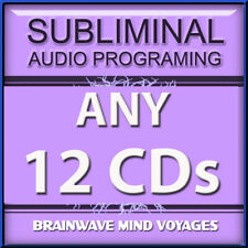 ANY 12 CDs SUBLIMINAL SELF HELP Powerful Programs Can Instantly TRAIN YOUR BRAIN