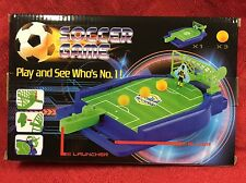TABLE TOP GAME TRADITIONAL SOCCER - Launch Ball Score Goals- Skill Action Game