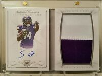 STEFON DIGGS RC AUTO JERSEY 2015 NATIONAL TREASURES JUMBO BOOK SP #/99 VIKINGS $
