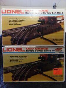Lionel Remote Control Switch Left Hand 6-5121 027 Gauge (Set of 2)