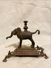 Antique Old Rare Bronze Hand Carved South Indian Baby Elephant Sculpture Statue