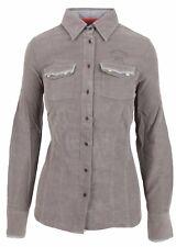 L' ARGENTINA Damen Kord Bluse Women Cord Shirt Größe 38 M 100% Baumwolle Grau