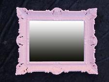 Wandspiegel + Konsole Spiegelablage 56x46 ANTIK BAROCK 811 Eingangsmöbel Rot