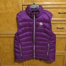 Women's Ralph Lauren polo RLX golf down puffer Vest purple size L new NWT $185