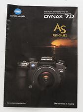 Broschüre Minolta Dynax 7D 7d 7-D AS Anti-Shake Zeitschrift
