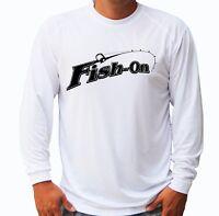Fish On Fisherman Long Sleeve UPF 30 T-Shirt Fishing Boat UV Protection