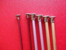 """Aluminum single point knitting needles, 3 sets,  sizes 2, 7 and 8, 14"""" long"""