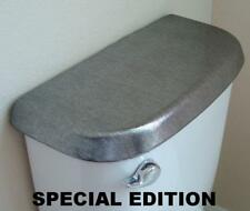 Shiny Fabric Cover for a Lid TANK toilet Platinum Color - HandMade in USA