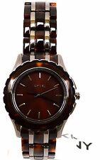 $155 NWT DKNY NY8701 Brooklyn Gunmetal &Tort Ladies' Watch Authentic