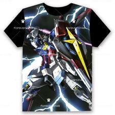 Anime GUNDAM T-shirt Short Sleeve Unisex Loose Black TEE Tops Cosplay S-3XL#7-02