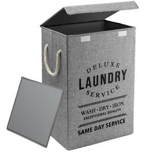 Fabric Foldable Laundry Basket Deluxe Washing Clothes storage Box Bin Hamper Bag