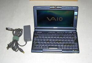 SONY VAIO PCG-C1MSX C1 PICTUREBOOK CRUSOE TM5800 256MB 40GB HDD WEBCAM WIFI BT