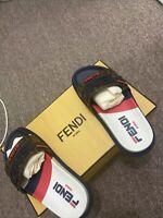 Fendi X Fila Slides Shoes