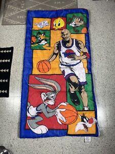 90s Space Jam Sleeping Bag Thermal Looney Tunes 1996 Michael Jordan Vintage