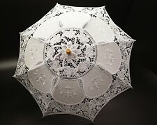 "20""  Vintage Wedding Lace Linen Parasol Umbrella Bridal Shower Party Decoration"