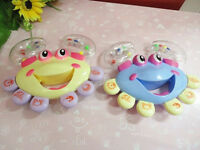 Kids Baby Crab Design Handbell Musical Instrument Jingle Shaking Rattle Toy SMS