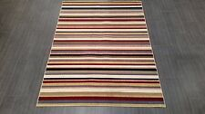 CHINESE,MODERN,STRIPED,  RUG, 224x160CM,MULTICOLOUR,RED,BLUE,IVORY,GREEN,BLACK