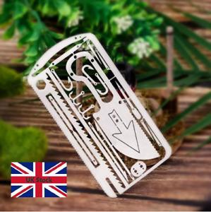22 in 1Camping Survival Card Pocket Multi tool Camping Survival Card EDC UK