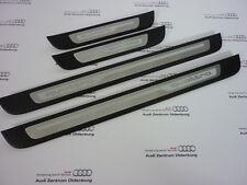 Original Audi Seuils de Porte A6, 4-teilig, Insert Décoration Aluminium Quattro