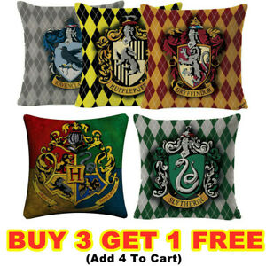 Harry Potter Cushion Cover Throw Pillow Case Sofa Home Office Decor Home Travel